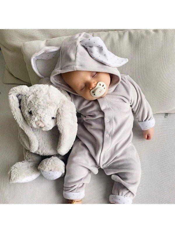 Комбинезон Bunny Overall Grey Plush / Silver Dots