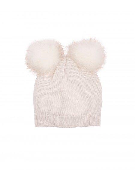 Шапка Cashmere Pom Pom Hat Aura / Glitter