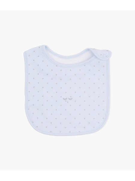 Слюнявчик Saturday Bib Blue / Silver Dots
