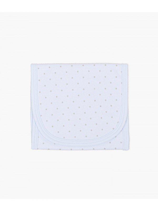 Полотенце для кормления Saturday Burp Blanket Blue / Silver Dots