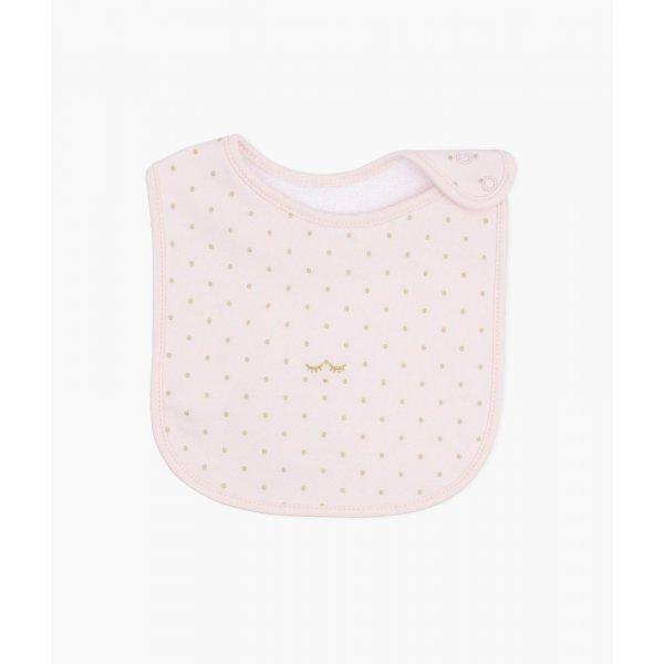 Слюнявчик Saturday Bib Pink / Gold Dots