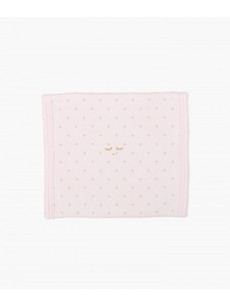 Полотенце для кормления Saturday Burp Blanket Pink / Gold Dots