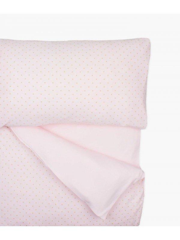 Комплект постельного белья Bedding Set Pink / Gold Dots
