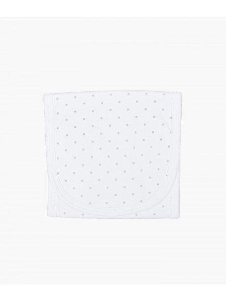 Полотенце для кормления Saturday Burp Blanket White / Silver Dots
