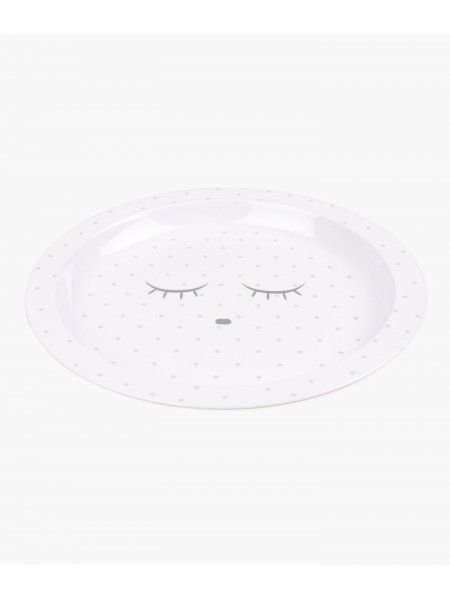 Тарелка Plate White / Silver Dots