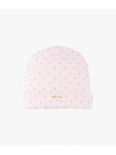 Шапка Saturday Ninni Hat Pink / Gold Dots