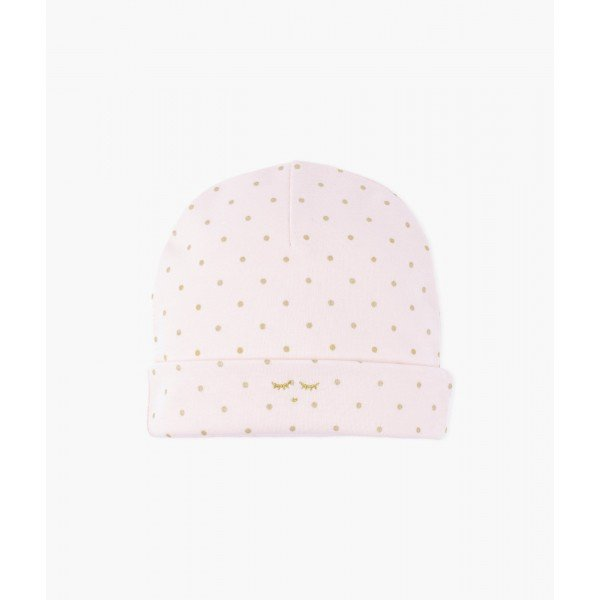 Шапка Saturday Ninni Hat Pink / Gold Dots
