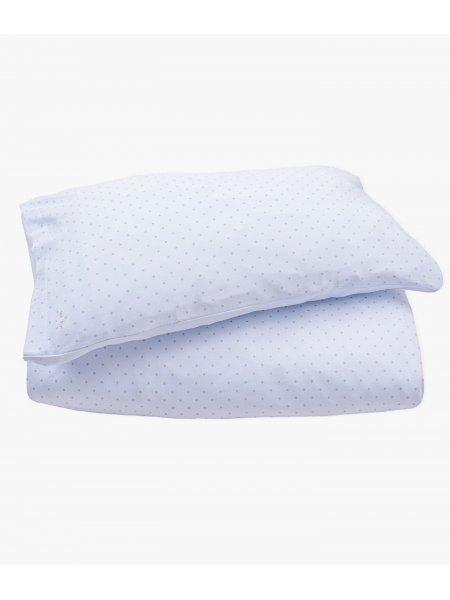 Комплект постельного белья Bedding Set Blue / Silver Dots