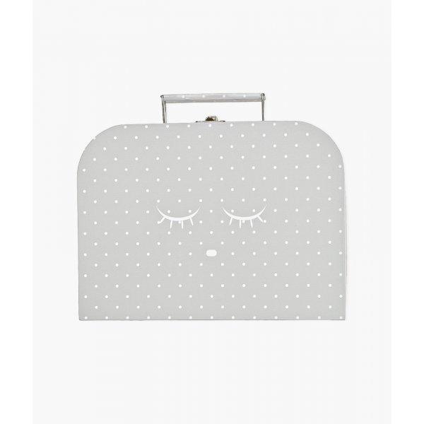 Чемодан средний Medium Cleeping Cutie Trunk Grey / White Dots