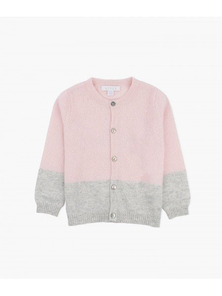 Кардиган Cashmere Round Neck Cardigan Powder / Blizzard