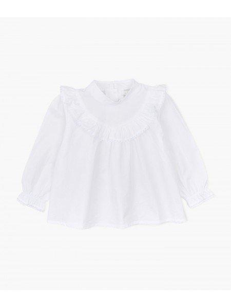 Блуза Lace Ruffle Blouse White