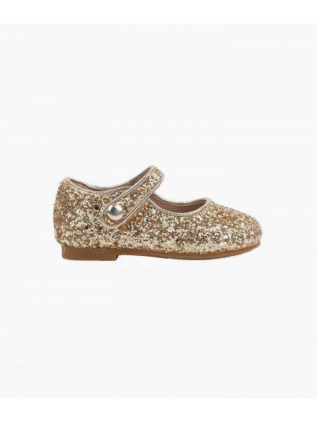 Туфли Mary Jane Shoes Gold Glitter