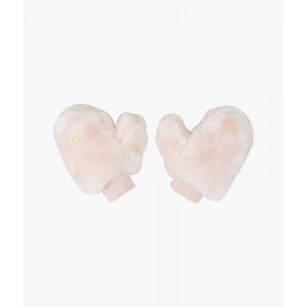 Рукавицы Medium Faux Fur Gloves Pink