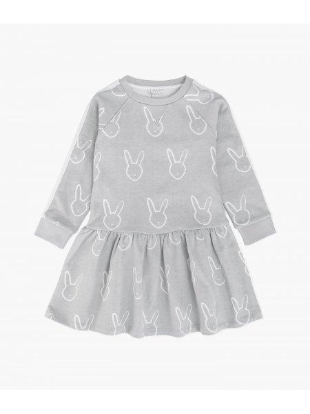 Платье Bunny Head Sweatshirt Dress Grey