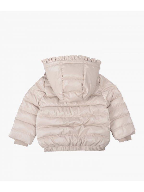 Куртка Ruffled Puffer Jacket Shiny Pink