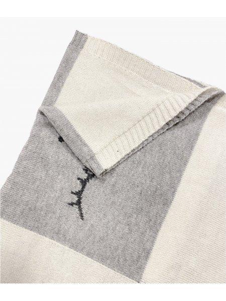 Одеяло Cashmere Blend SC Blanket White / Grey Color Block