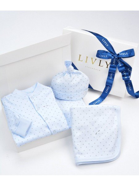 Набор Welcome Kit Blue / Silver Dots
