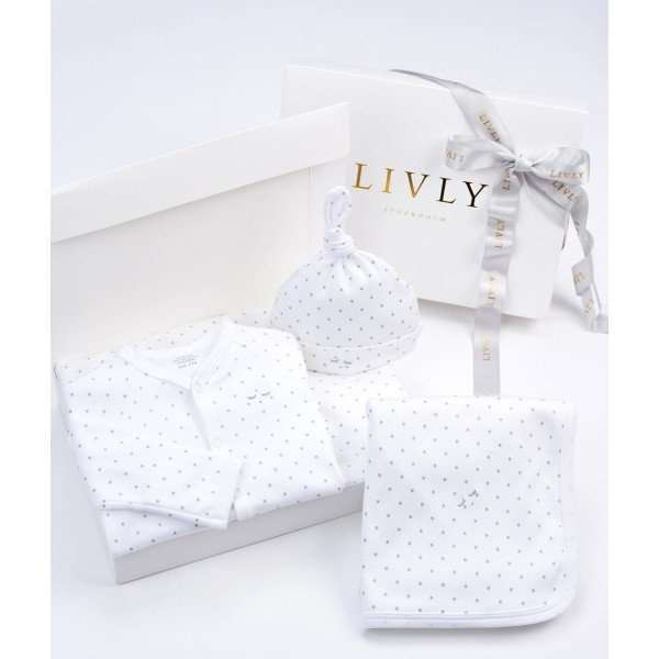Набор Welcome Kit White / Silver Dots