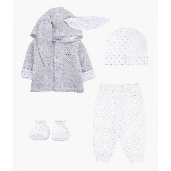 Набор Cozy Bunny Set Grey / Saturday White
