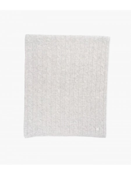 Одеяло Cable Knit Cashmere Blanket Grey
