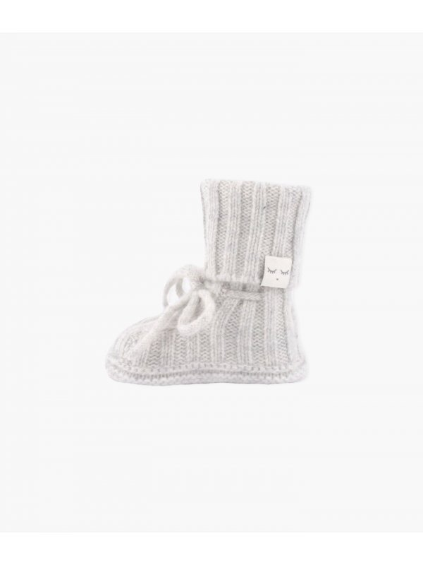 Пинетки Cable Knit Cashmere Footie Grey
