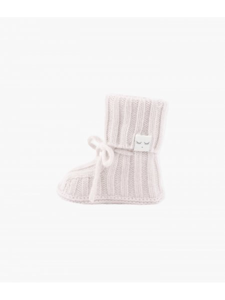 Пинетки Cable Knit Cashmere Footie Light Mauve