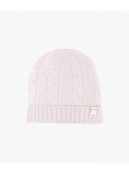 Шапка Cable Knit Cashmere Hat Light Mauve
