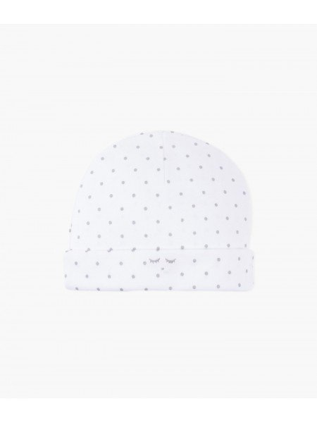 Шапка Saturday Ninni Hat White / Silver Dots