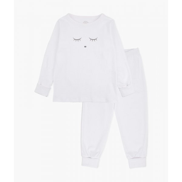 Пижама Sleeping Cutie 2 Piece PJ White / Grey