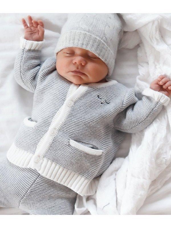 Кардиган Knit Cardigan Grey / Ivory