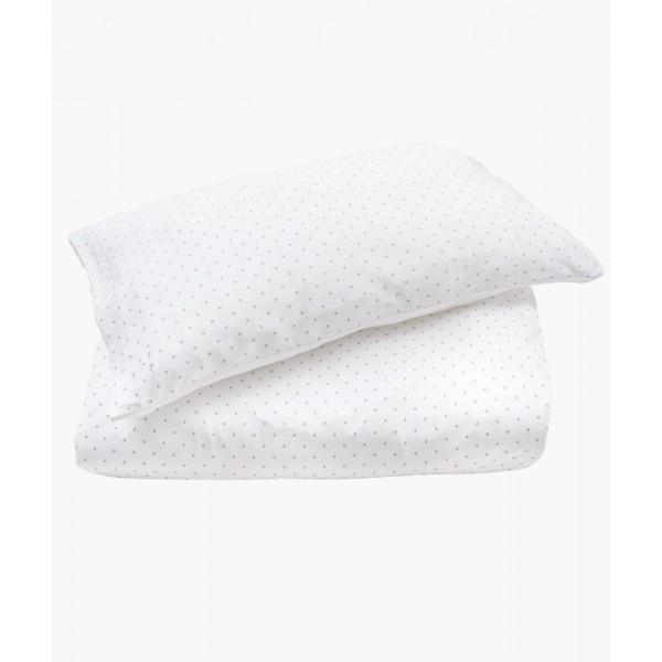 Комплект постельного белья Bedding Set White / Silver Dots