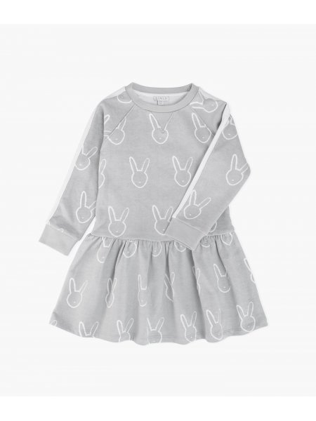 Платье Bunny Head Sweatshirt Dress Grey