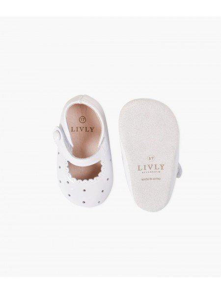 Туфли Baby Mary Jane Shoes White Scallop