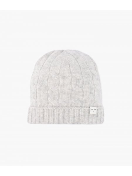 Шапка Cable Knit Cashmere Hat Grey