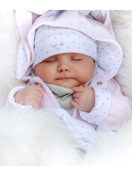 Комбинезон Bunny Overall Pink Plush / Silver Dots