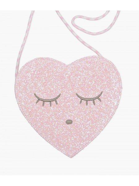 Сумка Heart Purse Pink Glitter