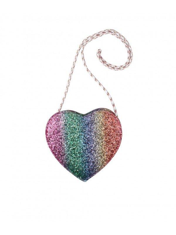 Сумка Heart Purse Rainbow Glitter
