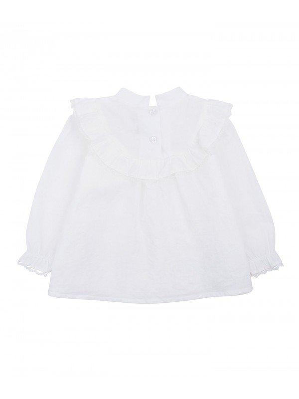 Блуза Lace Ruffle Blouse Cream