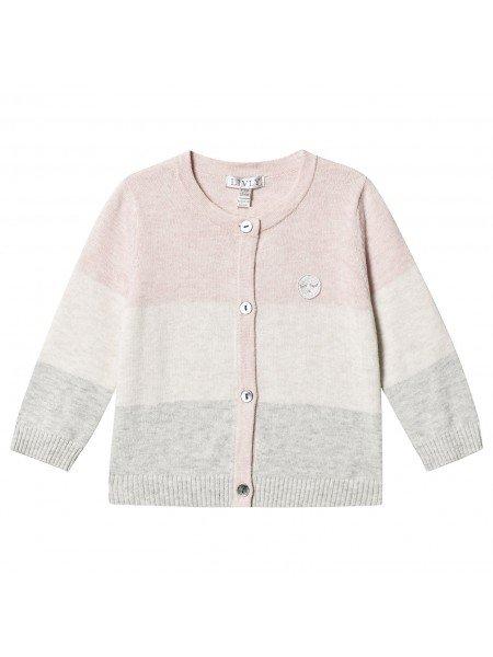 Кардиган Stripe Round Neck Knit Pink / Cream / Grey