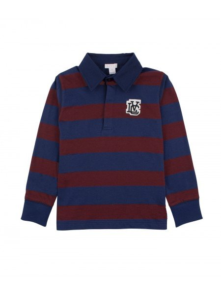 Рубашка Rugby Shirt Navy / Wine Red
