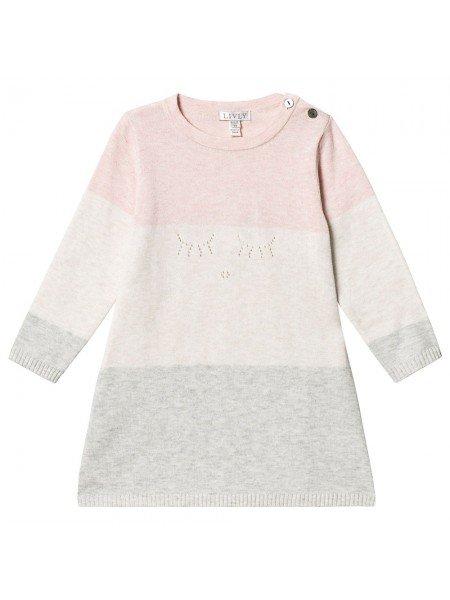 Туника Knit Tunic Pink / Cream / Grey
