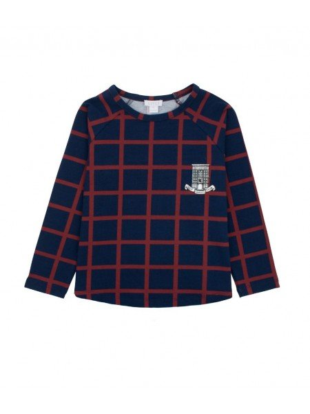 Рубашка Squares Long Sleeve Shirt Navy / Wine Red