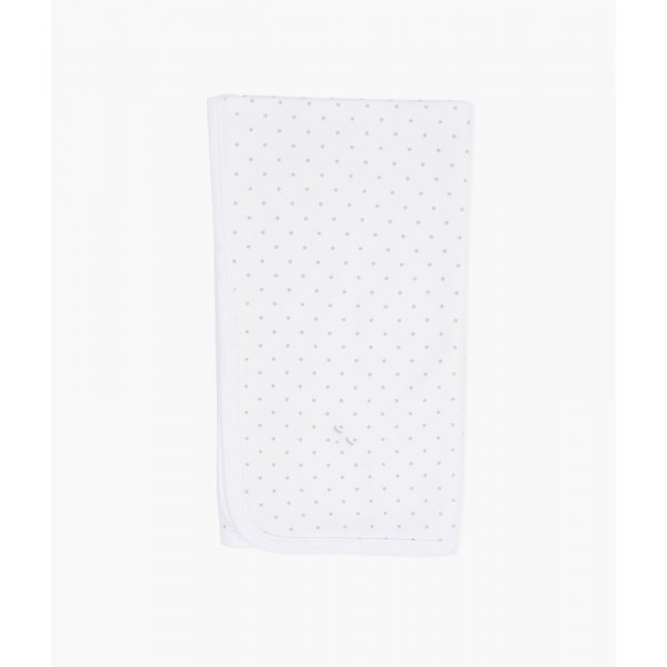Одеяло Saturday Blanket White / Silver Dots