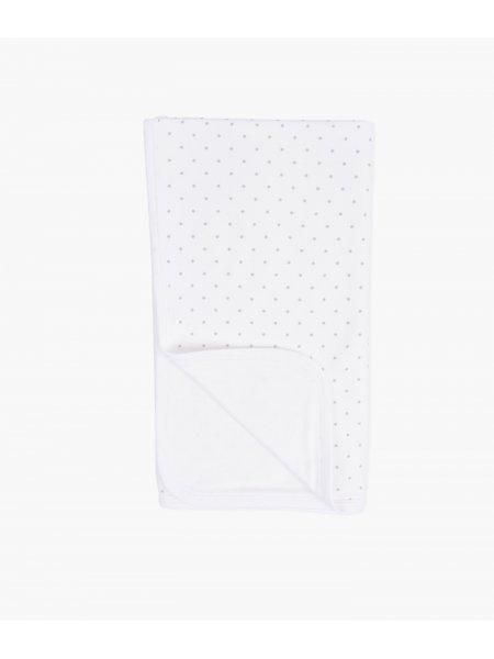 Одеяло Saturday Blanket White / Silver Dots