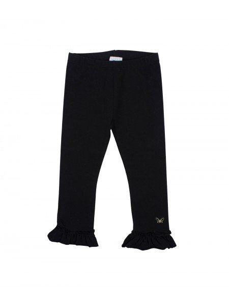Леггинсы Ruffled Leggings Black / Gold Bow