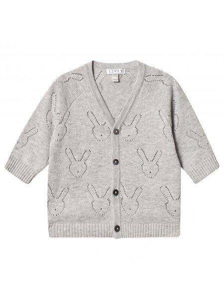 Кардиган Bunny Knit Cardigan (V-neck) Grey