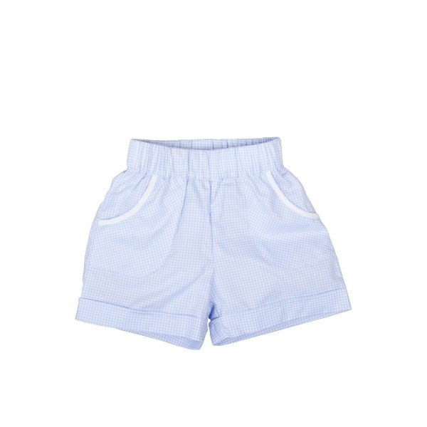 Шорты Emil Shorts Blue Square / White Piping