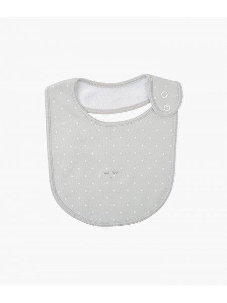 Слюнявчик Saturday Bib Grey / White Dots