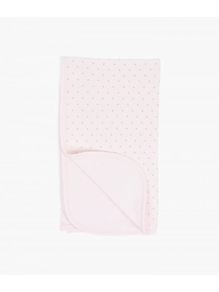 Одеяло Saturday Blanket Pink / Gold Dots
