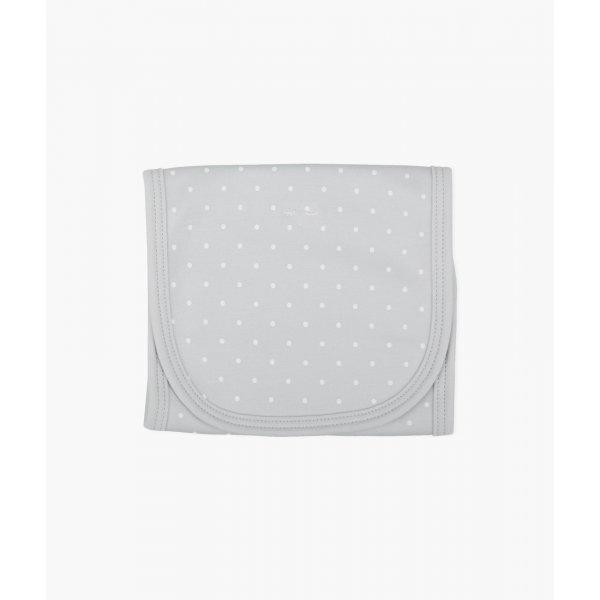 Полотенце для кормления Saturday Burp Blanket Grey / White Dots
